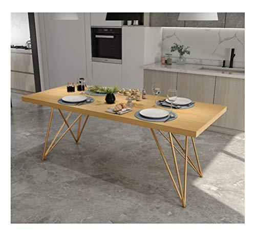 WYQSZ Hölzerner Langer Tabellen-Kaffeetisch-Konferenztisch-einfacher Schreibtisch-Abendtisch-Verhandlungstisch-Ausgangscouchtisch