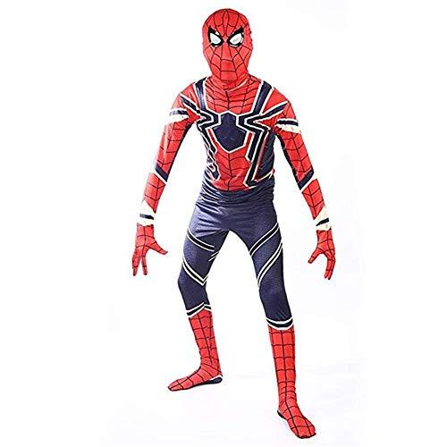 CHERSH Eisen Spiderman Cosplay Anime Set Halloween erwachsenes Kind spielt Strumpfhosen (Size : M) (Feuer Und Eis Kostüm Set)