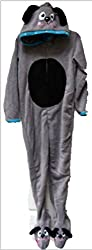 primark girls puppy dog onesie age 5 - 6yrs hooded with feet sleepsuit all in one babygrow romper suit jumpsuit
