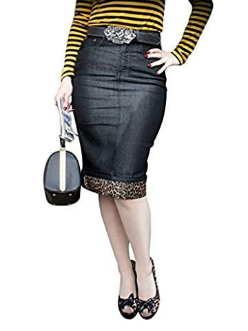 Rumble59 - Jupe - Femme noir schwarz / leo - noir - 38