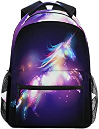 194e1527e2 JSTEL Unicorn Magic with Stars School Backpacks for Girls Kids Elementary  School Shoulder Bag Bookbag