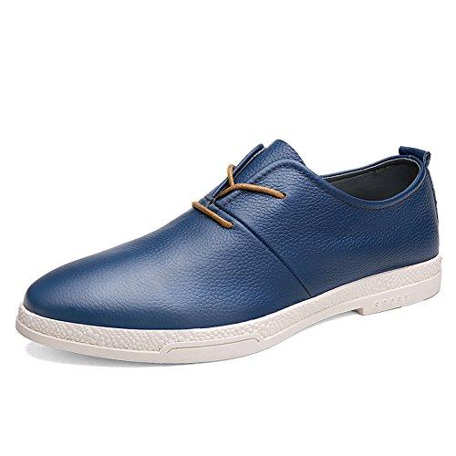 HYLM Business casual scarpe di cuoio pizzo scarpe scarpe minimaliste Blue