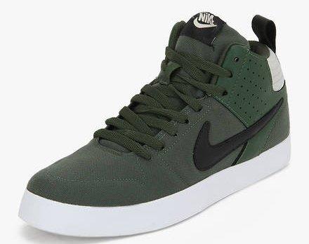 Nike Men's Liteforce III Mid Carbon Green and Black Sneakers- 7 UK