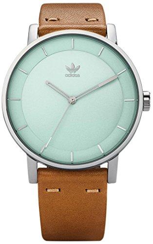 Adidas Damen Analog Quarz Uhr mit Leder Armband Z08-2922-00