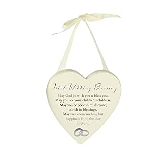 Amore Heart Verse Plaque Irish Wedding Blessing
