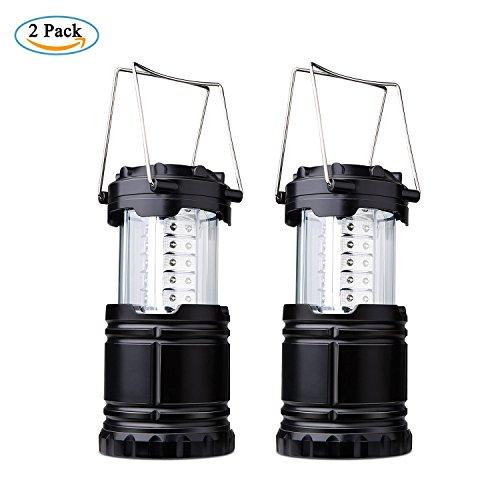 Lampara de Camping,Diealles 2 Unidades Faroles Portátiles LED Lámpara Exterior Plegable - Bateria Cargada - Impermeable para Camping,Luz de Emergencia,Pesca,Senderismo,Exterior e Interior