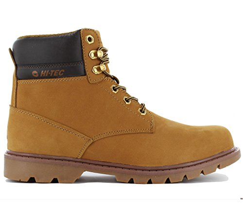 Hi-Tec Oruvi Mid Herren Boots Stiefel Camel-Brun Echtleder Chaussures Homme Baskets Top