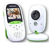 tewun Babyphone, 2,0-Zoll-LCD-Bildschirm, eingebaute 8 Schlaflieder, Nachtsicht-Temperaturüberwachung und 2-Wege-Talkback-System