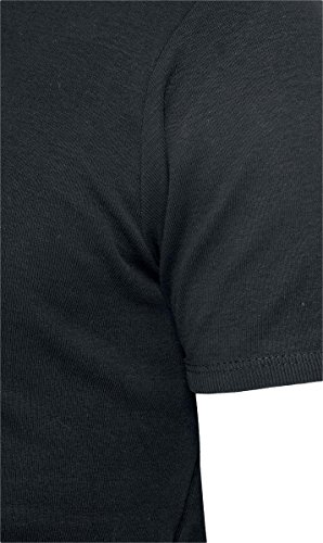 Urban Classics Herren Oberteile / T-Shirt Slim 1by1 V-Neck Schwarz