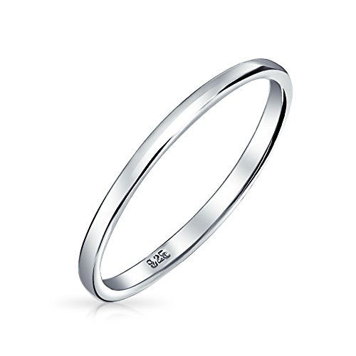Bling Jewelry 925er Sterlingssilber Hochzeit Band Daumen Zehe Ring 2mm