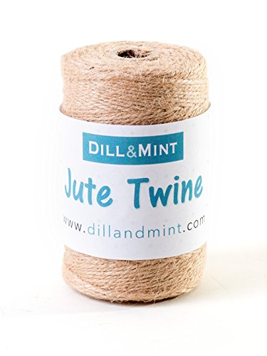 Bobina de yute Dill and Mint, 150 m de cordel fuerte de 2 mm,...