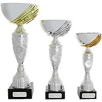 pokalspezialist Pokal Pokal Bromberg Gold Silber Bronze mit Gravurplatte und Gravur