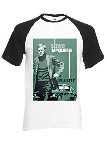 bullitt-steve-mcqueen-ford-mustang-novelty-black-white-men-women-unisex-shirt-sleeve-baseball-t-shir