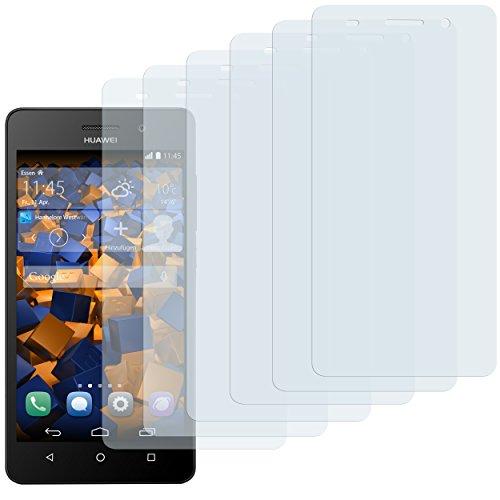 mumbi Schutzfolie kompatibel mit Huawei G Play mini Folie klar, Bildschirmschutzfolie (6x)