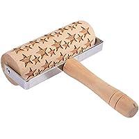 Cherishly Durable de Mano Grabado láser Protección del Medio Ambiente Cocina Impresión Rodillo Gorgeous