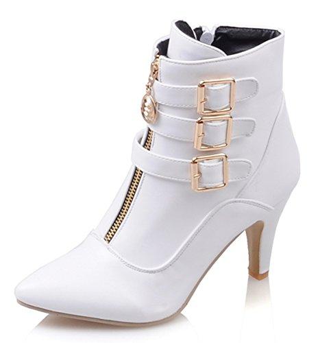 ye damen spitze blockabsatz high heels stiefeletten mit. Black Bedroom Furniture Sets. Home Design Ideas