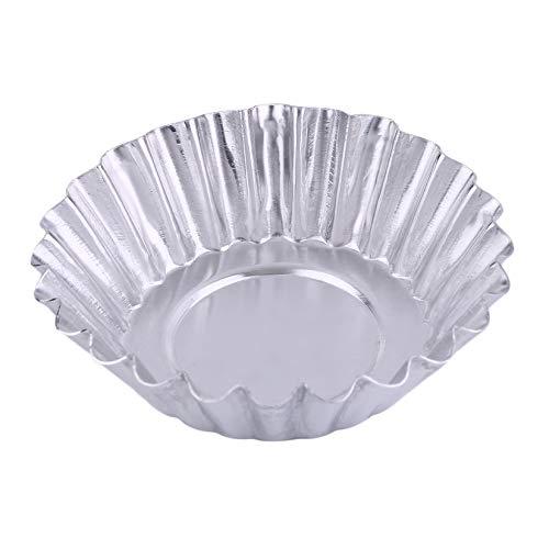 Praktische Ei Torte Aluminium Cupcake Kuchen Cookie Mold Professional ausgekleidet Form Zinn Backen Werkzeuge Küche verwenden - Silber Aluminium-torte
