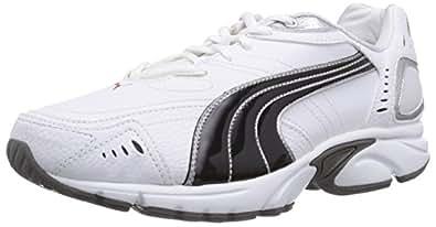 Puma  Xenon TR SL, Chaussures de running homme - Blanc - Weiß (white-black-puma silver-high risk red-steel grey 02), 40 EU