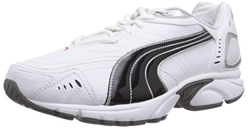 Puma Xenon TR SL, Herren Laufschuhe, Weiß (white-black silver-high risk red-steel grey 02), 40.5 EU (7 Herren UK)