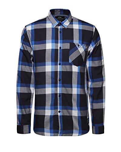 Jack & Jones Ewan Chemise à carreaux à manches longues Coupe Slim–Différentes couleurs Bleu - Bleu (Directoire)