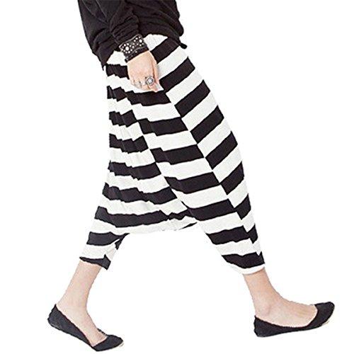 Queenbox Unisex Harem Hosen Hosen mit traditionellen Weben und elastischen Bund - Strips -