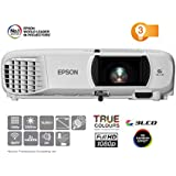 Epson EH-TW650 3LCD Full HD 3100 Lumens 300 Inch Display Wi-Fi Gaming and Home Cinema Projector, White