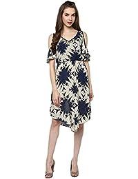 Taurus Women's Viscose Ivory Starlit Dress