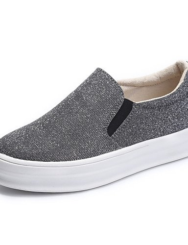 ZQ Scarpe Donna - Mocassini - Ufficio e lavoro / Casual - Punta arrotondata - Piatto - Tulle - Nero / Blu / Grigio / Borgogna , gray-us8.5 / eu39 / uk6.5 / cn40 , gray-us8.5 / eu39 / uk6.5 / cn40 black-us8.5 / eu39 / uk6.5 / cn40