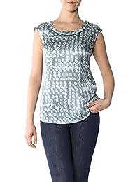 CINQUE Damen Bluse Citrube Seide Blusenshirt Gemustert, Größe: 38, Farbe: Grau
