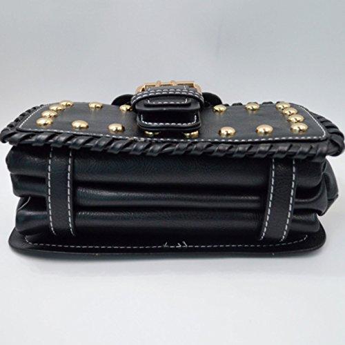 Milya Kleine Umhängetasche PU-Leder Schultertasche Damen Clutch Leder Einfach Handtasche Einstellbar abziehbar Handbag Crossbody Multifunktionale Handtasche Schwarz