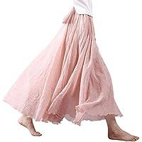Mujer Cintura Elástica Falda Larga Vestido Boho De Playa Falda Maxi De Noche Fiesta Boda Elegante