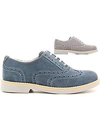 Negro Jardines Junior p633780gris cordones zapatos mujer niños estilo inglés