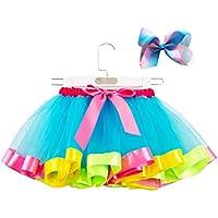 FENICAL Vestido de falda de tutú de niña con Bowknot Headwear trajes accesorios de fotografía de niñas bebé talla L