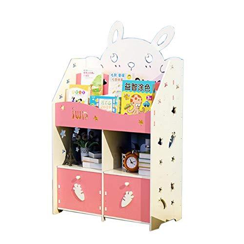 JCNFA Bücherschrank Für Kinder Spielzeugschrank Mit Doppelschublade Leiterentwurf Wohnzimmer Schlafzimmer Mehrstöckig (Farbe : Pink,...