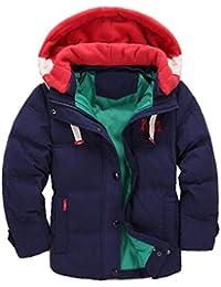 Niños Abajo Chaqueta con Capucha Invierno Prueba de Viento Cálido Abrigo de Algodón Grueso Engrosamiento Parka