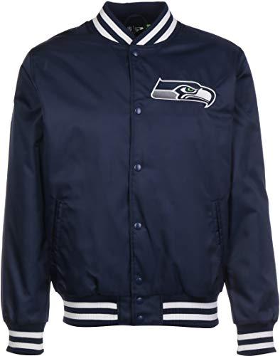 New Era - NFL Seattle Seahawks Team Wordmark Bomber Jacke - Blau Größe L, Farbe Blau