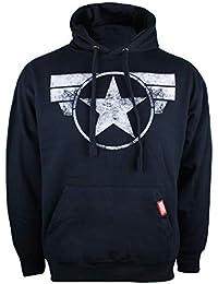 Marvel Captain America-Cap Logo, Capucha para Hombre