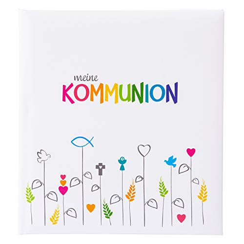 Goldbuch Erinnerungsalbum für die Kommunion, Regenbogen, 23x25 cm, 44 illustrierte Seiten, Kunstdruck, Weiß/Bunt, 11 028