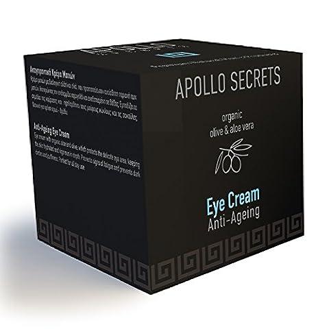 Anti vieillissement Eye Crème pour les hommes–40ml–par Apollo Secrets naturel Sacs cosmétiques–Réduit les cernes, yeux, les yeux gonflés, les rides, pattes d'oie, ridules, les gonflements–Conçu spécialement pour les hommes–Livraison gratuite