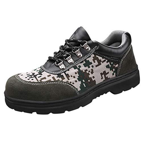 Zapatos de Seguridad Camuflaje Militar Hombre Zapatillas Personalidad Comodos Calzado de Trabajo y Deportiva...