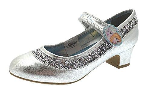 Disney Kids Girls Frozen Dress Up Shoes Glitter Princess Anna Elsa Low Heels Size UK 7-1