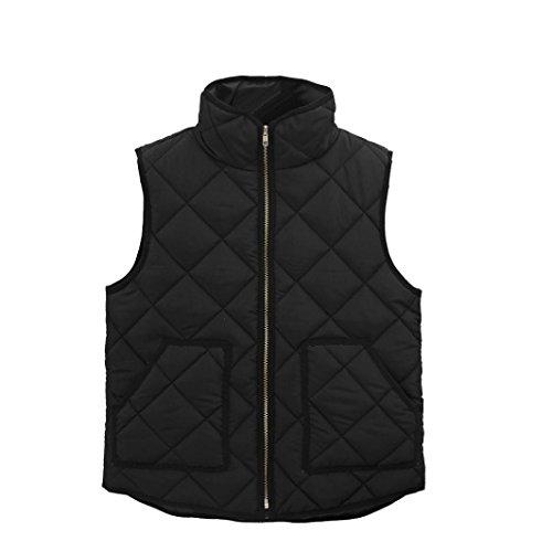Zolimx Frauen Damen Taschen Mantel Sleeveless Westen Outwear Weste (XXXL, Schwarz)