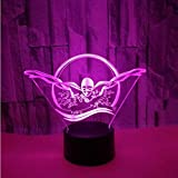 Shuyinju Nuoto 3D Night Light Lovely 7 Colori CambiaRegalo3D LampadaPer Baby Room Luci