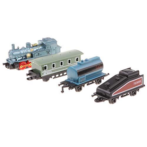 Sharplace Modèle Train Locomotive Chemin de Fer Train Pull Back Disposition Enfants Jouet Educatif - Bleu