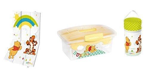 Preisvergleich Produktbild Reise-Wickelunterlage + Warmhaltebox + Traveller Box Disney Winnie Pooh weiß