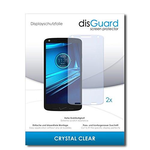 disGuard® Bildschirmschutzfolie [Crystal Clear] kompatibel mit Motorola Droid Turbo 2 [2 Stück] Kristallklar, Transparent, Unsichtbar, Extrem Kratzfest, Anti-Fingerabdruck - Panzerglas Folie, Schutzfolie