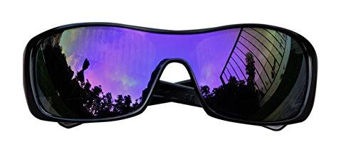 MZM Polarisierte Ersatzgläser für Oakley Batwolf ( wählen Sie Die Farbe) (Purple Mirror)