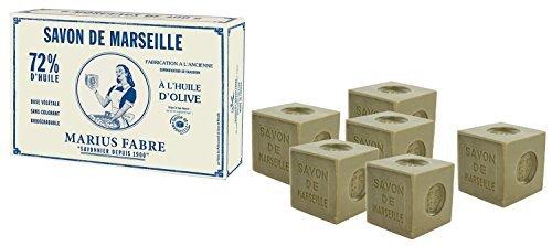 Marius Fabre Marseiller Seife, 72% Olivenöl, Schachtel mit 6x 400g -