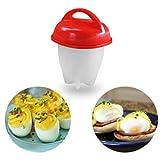 Meisijia 1pc/6pcs Silikon-Antihaft-Ei-Kocher Fest Boil-Ei-Form Container Boiler Kitcken Kochen Eggies Maker