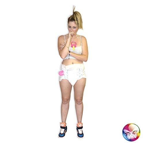 Adult Baby-Set - große Modell-Schicht, 34cm Pflege-Pin. , Schnuller - zufällige Farbe (Adult Baby Kostüm)